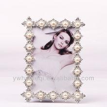 Marco de fotos funia plata decoración de la boda regalo marco de fotos