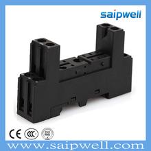 SAIPWELL 14F-2Z-C2(RX78625) Mini Type Easy Used Cheap Black Relay Socket Electric Relay Socket Plastic 7A Relay Socket
