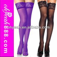 Beautiful pattern nylon fabric high quality fashion thigh high stockings for sexy girls