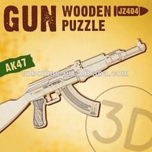 ROBOTIME Top Sale Educational Wooden Gun Puzzle Toy