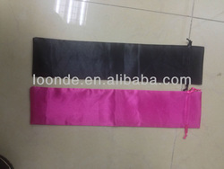 """4""""x 16 """" Superior quality satin hair packaging bags for hair extension"""