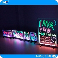 Alibaba express LED panel acrylic led tablet led writing board on the table/counter for advertising mini led writing board
