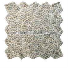 outdoor flooring white round pebble stone for garden
