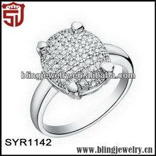 Hot-selling in European Zirconia Oval Rings Costume Wedding Ring