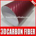 tsautop 3d de carbono de papel de fibra de la película con drenaje de aire 3d de fibra de carbono rollo de vinilo autoadhesivo de fibra de carbono película de vinilo de color rojo vino
