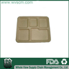 Disposable unbleached biodegradable food trays