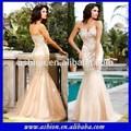 Ed-1012 sirène quinceanera robe de soirée couleur champagne robe de soirée couleur champagne