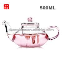 2014 HOT SALES hand made heat resistant borosilicate exotic glass teapot glass tea set glass pot