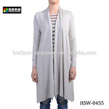 Dames fantaisie soie cachemire tricoté Long Cardigan