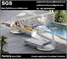 outdoor PE rattan wicker rattan sun lounges rattan lounge