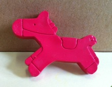 Non Toxic horse shaped wax crayon for Kids