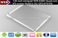 7.85 inch 3g android tablet pc with dual camera Tablet Pc IPS 1GB/8GB with 3G SIM Card Slot, GPS, ATV, BT, FM, HDMI