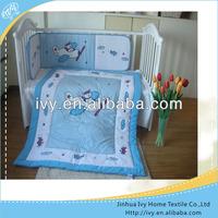 100 Cotton Kids Light Blue Bedding Set