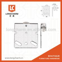 Nylon et de fer yl-6703a armoire porte coulissante rouleau de porte en acier de roue portes coulissantes rouleaux de roue