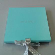 Most Beautiful Natural artesanal azul escuro e azul claro cartão textura coberto folha de prata camisas de vestido caixas