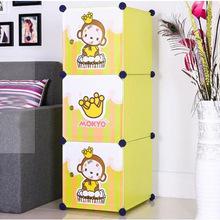 3 cubes Carton door fashin kids storage organizer, spicy mami's choice for children(FH-AL0013-3)