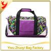 Fashion Ladies Duffel Bag With Flowers Printing
