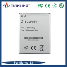 High Capacity replacement AAA quality Li-ion battery Mobile Phone Battery for Gionee E3