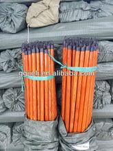 Recubierto de pvc de escoba de madera/fregona/recogedor/mango del cepillo/palo/varilla/polo para el hogar y jardín herramientas de limpieza