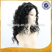 Cheap natural curly Virgin Brazilian Human Hair 3/4 Wigs For Black Women