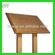 wooden bulletin board/ wooden notice board