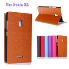 Folding stand leather case with card slots inside for Nokia XL