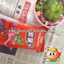 Purple potato crisps of dried vegetable snack