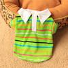 OEM Lovely Cute Polyester Green Striped Dog Wear, Summer Stripe Pet Dog T-Shirt