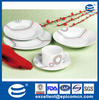 18pcs round ceramic dinnerware kitchen porcelain dinner plates set with color line and dots