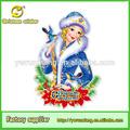 3d papel glitter russo meninas de natal decoração de casa