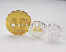 gold plated coins or silver plated coins Fake gold coins counterfeiting The plating color cheap Sales promotion