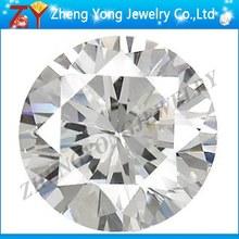White Cubic Zirconia/Precious Gemstone/Round Synthetic Gemstone