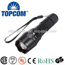 e17 2000 lumens zoomable xm-l t6 led flashlight