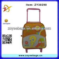 cheap fashion child school trolley bag