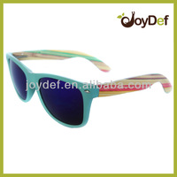 Nature wooden glasses ,cheap bamboo wooden sunglasses, mirror lens wayfarer wooden sunglasses