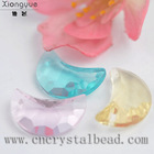 Top quality half moon shapes glass bead for jewelry making and Christmas decoration
