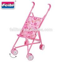 Feili factory direct sell shantou toys market metal doll prams baby stroller toy