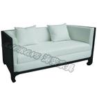 White leather lounge sofa / 2 seat white leather lounge sofa SO-174