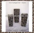 casamento decoração de mesa de ouro preto e arte de altura vaso de mosaico de vidro retangular