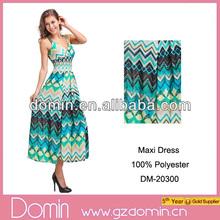 Hot Sale Printed Summer Elegant Women Chevron Fashion Dress Design