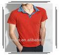 メンズの服工場/平原赤いポロシャツ/綿poloshirt