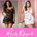 sexy maduro 2014 elegante clássico mulheres plus size babydoll lingerie de cetim