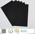 100% polpa de madeira de papelão preto encrespados papel de placa