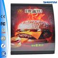 Publicidad menu board nuevo diseño ee.uu. alimentos lista de precios