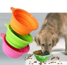 Fashion Dog Feeding Bowl Silicone Dog Pet Bowl Collapsible Dog Water Bowl
