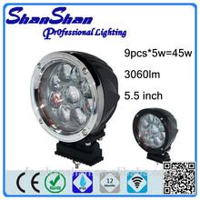 LED round light 5.5 inch CREE 45 Watt,mini warning light,for Off road motorcycle,ATV,SUV,4WD cars