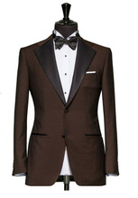 Model: Winston Mens Tuxedo Jacket, Single Breasted, 2 Button Front, Satin Lapels