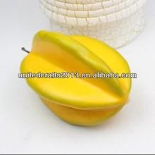 Promotional lifelike foam artificial fruit fake lemon