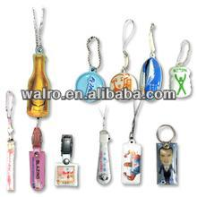 TPU round shape mobile phone LCD screen cleaner with key chain