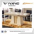 mármore retangular mesa de jantar topo para pequenos espaços